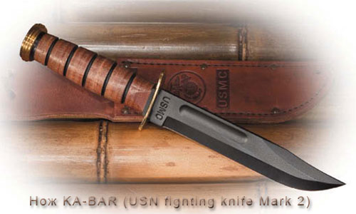 Нож KA-BAR (USN fighting knife Mark 2)