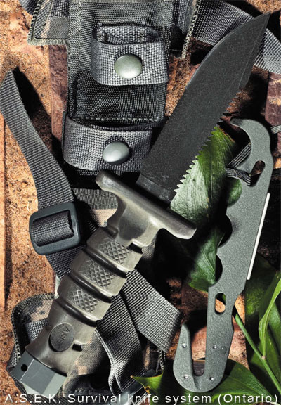 Нож A.S.E.K. Survival knife system (Ontario)