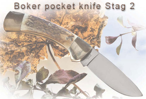 Boker pocket knife Stag 2
