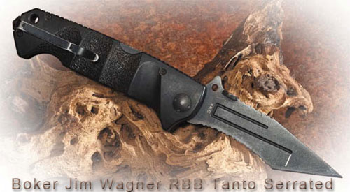 Нож Boker Jim Wagner RBB Tanto Serrated